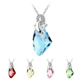 Princess Ice Platinum-plated Crystal Jumping Dolphin Pendant