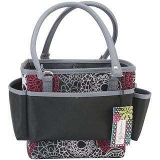 Mackinac Moon Open Top Square Tote W/Foldable Dividers-Red, White & Black
