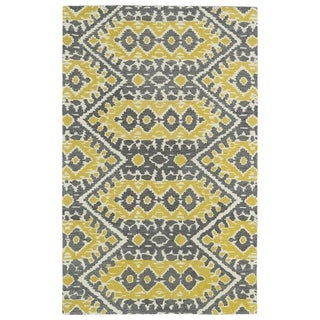 Hand-tufted de Leon Boho Yellow Rug (5'0 x 7'9)