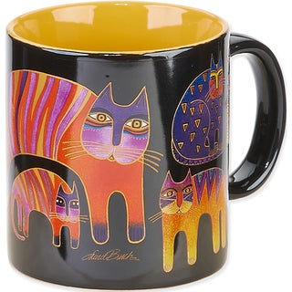 Laurel Burch Artistic Mug Collection-Fantastic Feline Totem
