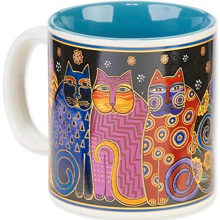 Laurel Burch Artistic Mug Collection-Feline Family Portrait