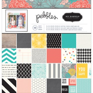 "Pebbles Paper Pad 12""X12"" 48/Pkg-Homemade"