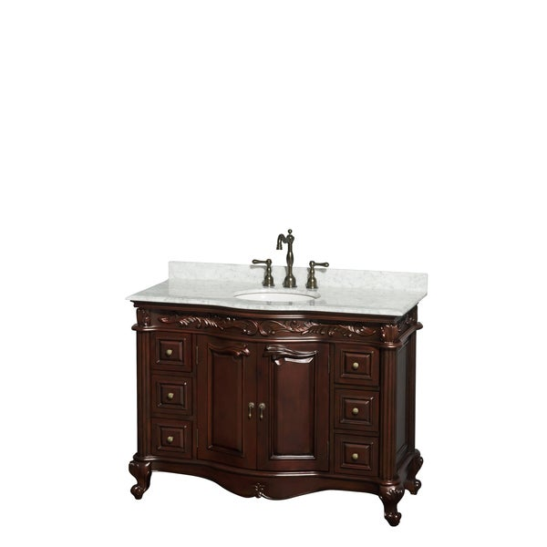 wyndham collection edinburgh 48 inch cherry undermount sink single bathroom vanity overstock. Black Bedroom Furniture Sets. Home Design Ideas