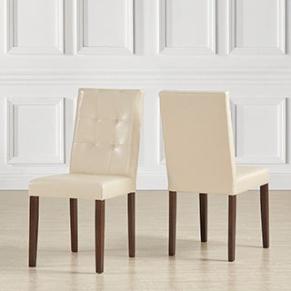 Shermer Tufted Bonded Leather Classic Side Chairs ( Set of 2)