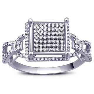 Sterling Silver 1/2ct TDW Diamond Ring (G-H, I2-I3)