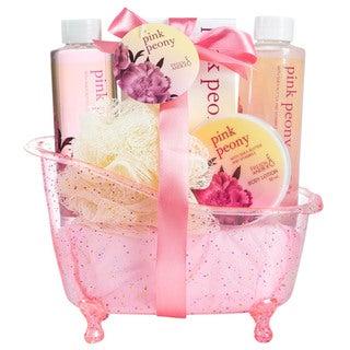 Pink Peony Tub Bath Gift Set