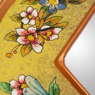Handcrafted Reverse Painted Glass 'Yellow Summer Garden' Mirror (Peru)