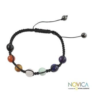 Handcrafted Multi-gemstone 'Well-being' Chakra Bracelet (India)