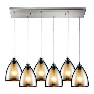Elk Lighting Reflections 6-light Satin Nickel Linear Pendant