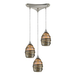Elk Lighting Vines 3-Light Satin Nickel Pendant