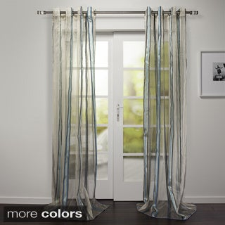 Evian Collection Sheer Stripe Grommet Curtain Panel