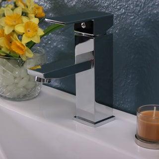 Polish Chrome Single Hole Square Faucet