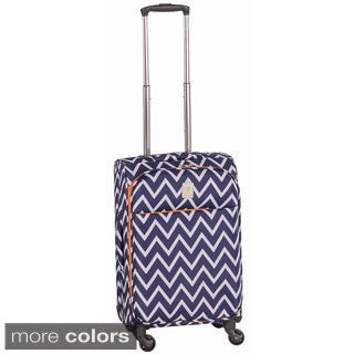 Jenni Chan Aria Madison Ultralite Chevron 20-inch Spinner Upright Carry-on Suitcase