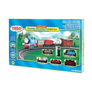 Bachmann Trains Thomas' Fun with Freight HO Scale Ready To Run Electric Train Set