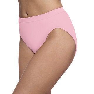Bali Women's Barely There Comfort Revolution Microfiber Seamless Hi-cut Panties
