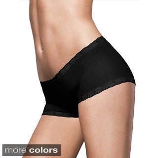 Maidenform Women's Microfiber and Lace Boyshort