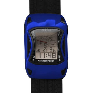 Dakota Fusion Kids' Blue Digital Racecar Watch