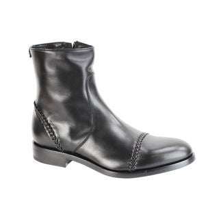 Roberto Cavalli Men's Black Italian Leather Fashion Boots
