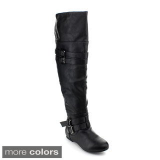 Top Moda Women's 'Night-79' Over-the-Knee Riding Boots