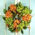 Jane Seymour Botanical Hydrangea and Magnolia Leaf Wreath