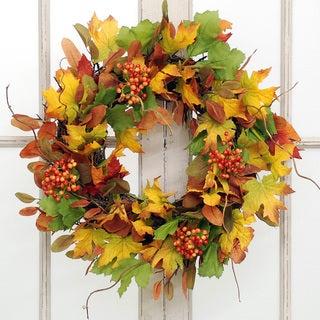 Jane Seymour Botanicals Autumn Leaf and Bittersweet Wreath