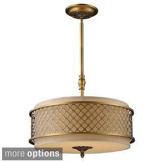 Chester 4-light Brushed Antique Brass Pendant