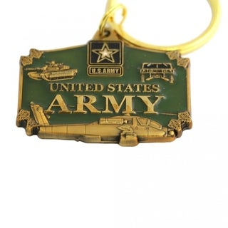 US Army Enameled Military Keychain