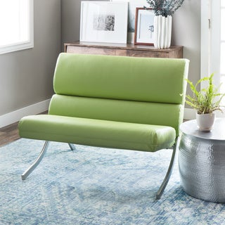 Rialto Lime Green Bonded Leather Loveseat