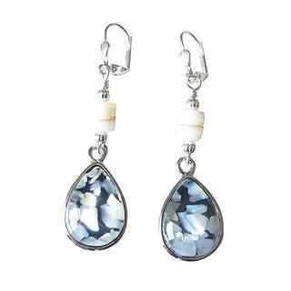 Palmtree Gems 'Annette' Mother of Pearl Teardrop Earrings
