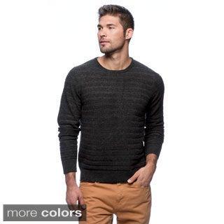 Cullen Men's Textured Stripe Cashmere Crew-neck Sweater