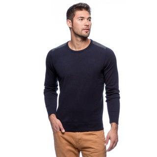 Cullen Striped Shoulder Yoke Crew Sweater