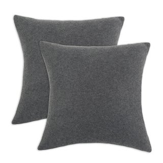 Somette Fleece Charcoal Simply Soft 17-inch Throw Pillows (Set of 2)