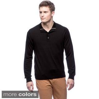 Cullen Men's Merino Wool Button-front Pullover