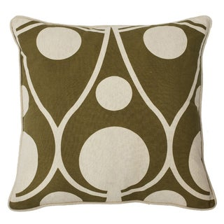 Champagne Bubbles 22-inch Feather Filled Throw Pillow