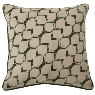 Infinity 22- inch Feather Filled Throw Pillow
