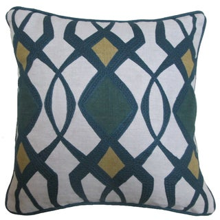 Mode 18-inch Feather Filled Throw Pillow