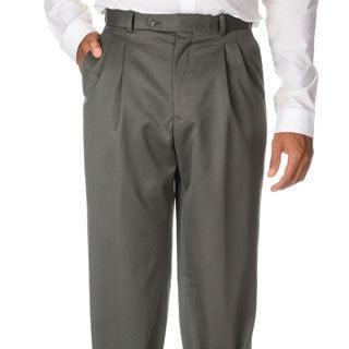Cianni Cellini Men's Olive Wool Gabardine Pants