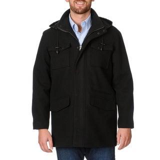 West End Young Men's 'Westin' Black Twill Winter Coat
