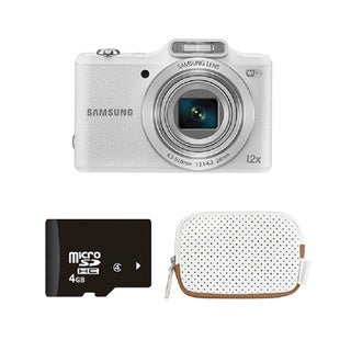 Samsung WB50F White 16MP Smart Digital Camera Bundle