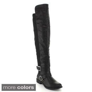 Top Moda Women's 'Polly-7' Knee-high Riding Boots