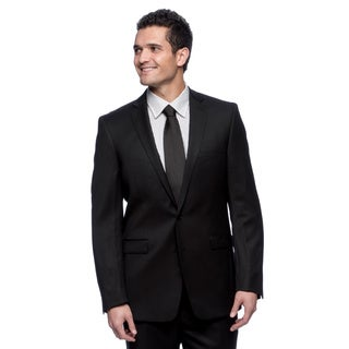 Calvin Klein Extreme Slim Fit Black Wool Suit