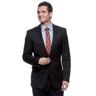 Calvin Klein Men's Navy Checkered Wool Suit