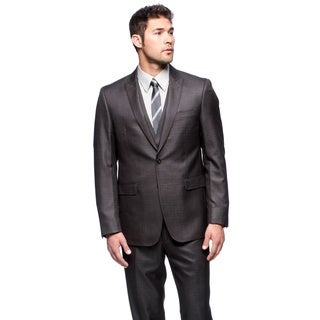 Calvin Klein Men's Grey 2-button Suit