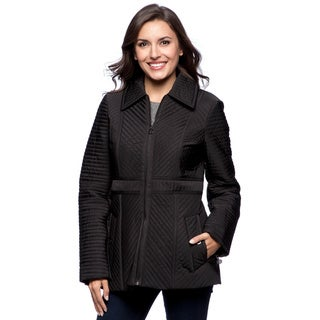 Anne Klein Women's Black Quilted Jacket