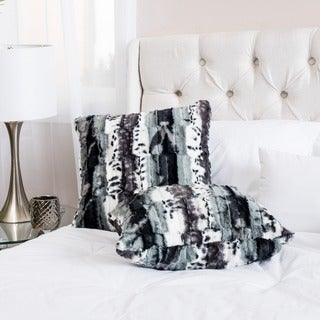 Christopher Knight Home Hilary Faux Fur Zebra Print Throw Pillows (Set of 2)
