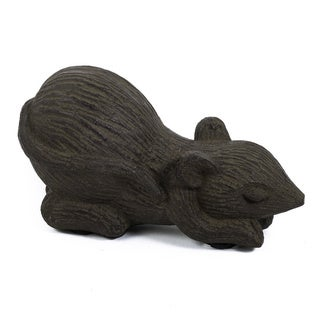 Volcanic Ash Curious Mouse Sculpture (Indonesia)