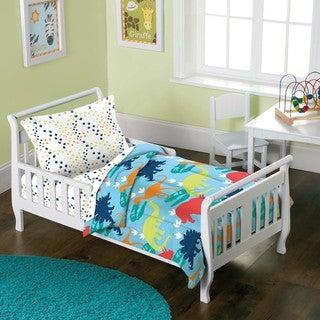 Dinosaur Prints 4-piece Toddler Bedding Set