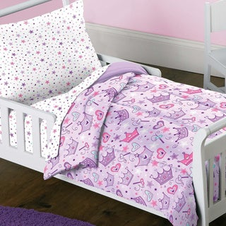 Stars and Crowns 4-piece Toddler Bedding Set