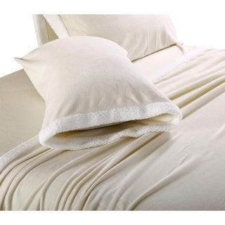 Ultra Soft Micro Fleece Sheets with Sherpa Trim