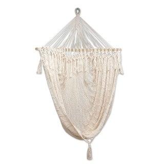 Handcrafted Cotton 'Sandy Beach' Hammock Swing (Mexico)